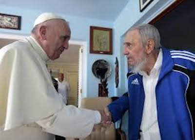 Fidel Castro incontra Papa Francesco. E' il 20 settembre 2015