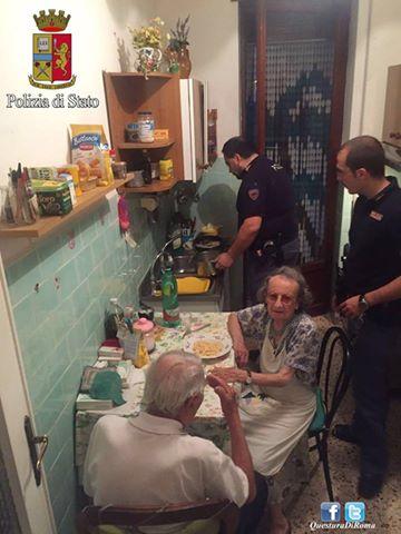 poliziotti e nonni roma
