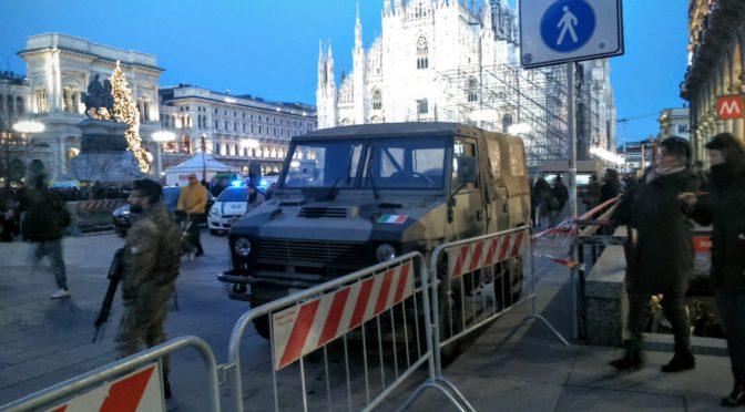 In piazza Duomo ho sbattuto contro un militare armato