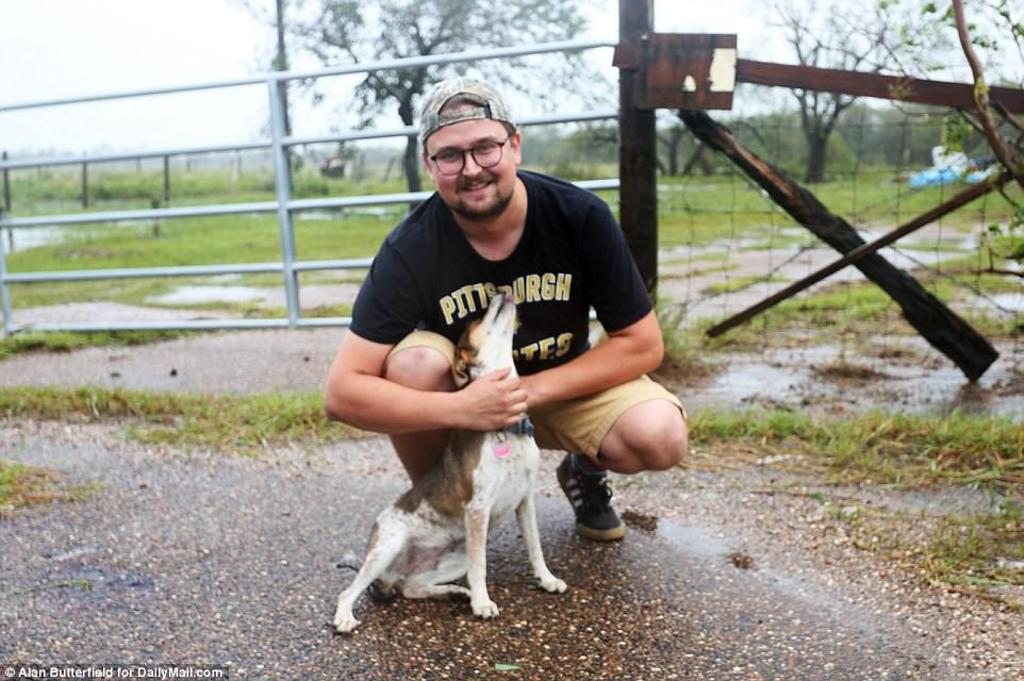 cane fotografo texas uragano harley
