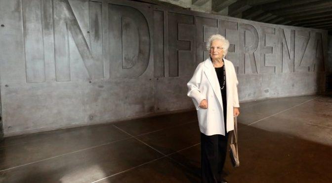Liliana Segre: «E' l'indifferenza la matrice dell'odio che avanza»